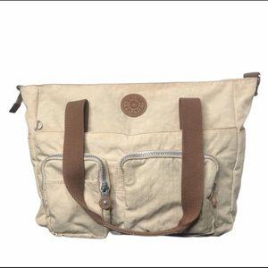 Kipling Beige Tote Bag